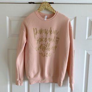 Blush & Gold Script Pumpkin Spice Sweatshirt